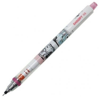 〔小禮堂〕史努比 日製旋轉筆芯自動鉛筆《綠白.餐車》0.5mm.自動筆.KURUTOGA系列