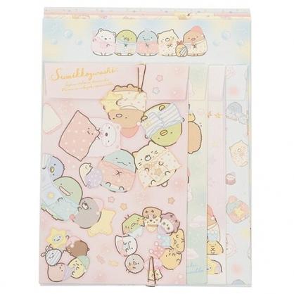 〔小禮堂〕角落生物 日製信紙組《粉黃.睡衣》信封.便條紙
