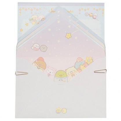 〔小禮堂〕角落生物 日製信紙組《藍紫.睡衣》信封.便條紙