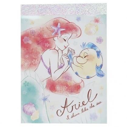 〔小禮堂〕迪士尼 小美人魚 日製迷你便條本《綠白.牽手》便條紙.留言紙.信紙