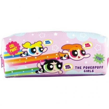 〔小禮堂〕飛天小女警 皮質三層拉鍊筆袋《紫綠.飛行》收納包.化妝包.鉛筆盒