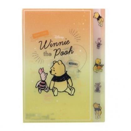 〔小禮堂〕迪士尼 小熊維尼 日製L型分類文件夾《橘黃.對看》檔案夾.資料夾.L夾
