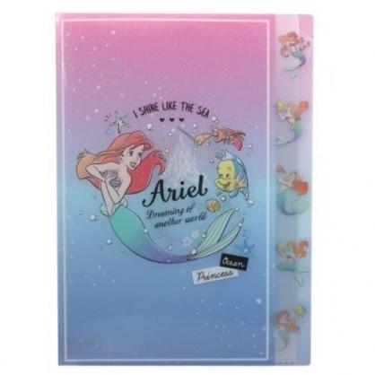 〔小禮堂〕迪士尼 小美人魚 日製L型分類文件夾《粉藍.對看》檔案夾.資料夾.L夾