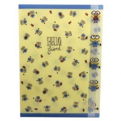 〔小禮堂〕小小兵 日製L型分類文件夾《黃藍.BOB滿版》檔案夾.資料夾.L夾
