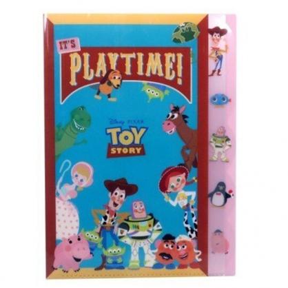 〔小禮堂〕迪士尼 玩具總動員 日製L型分類文件夾《綠紅.角色集合》檔案夾.資料夾.L夾