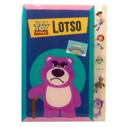 〔小禮堂〕迪士尼 玩具總動員 熊抱哥 日製L型分類文件夾《桃綠.拿拐杖》檔案夾.資料夾.L夾