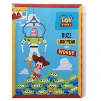 〔小禮堂〕迪士尼 玩具總動員 雙開式文件夾《藍綠.夾娃娃》檔案夾.資料夾.L夾