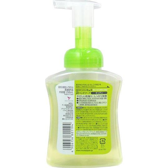 〔小禮堂〕日本MUSE 按壓瓶裝慕斯泡沫洗手乳《綠.綠茶香》250ml.洗手慕斯