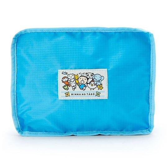 〔小禮堂〕大寶 折疊尼龍拉桿行李袋《藍》旅行袋.側背袋.朝氣運動系列