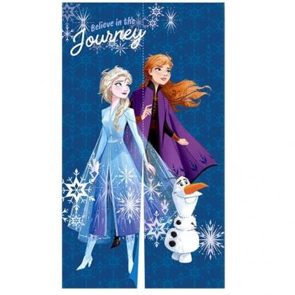 〔小禮堂〕迪士尼 冰雪奇緣 棉麻長門簾《藍紫.仰望》85x150cm.窗簾