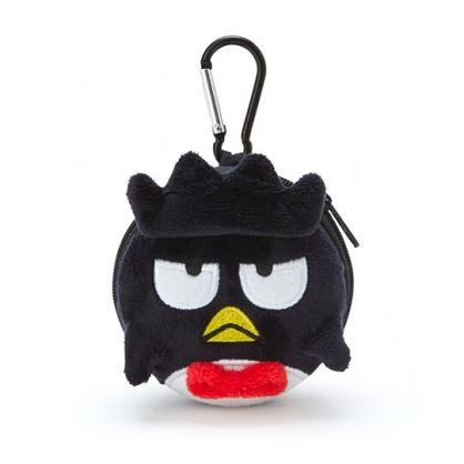 〔小禮堂〕酷企鵝 迷你造型耳朵絨毛硬殼收納包《黑白》掛飾.耳機收納盒