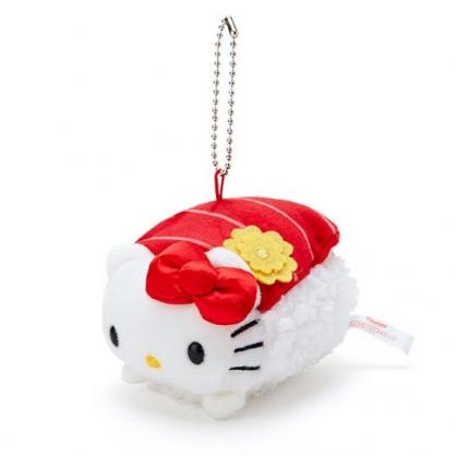 〔小禮堂〕 Hello Kitty 壽司絨毛玩偶娃娃吊飾《紅白》掛飾.鑰匙圈