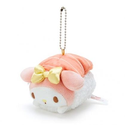 〔小禮堂〕美樂蒂 壽司絨毛玩偶娃娃吊飾《粉橘》掛飾.鑰匙圈
