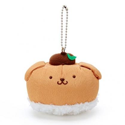〔小禮堂〕布丁狗 壽司絨毛玩偶娃娃吊飾《棕白》掛飾.鑰匙圈