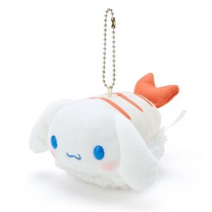 〔小禮堂〕大耳狗 壽司絨毛玩偶娃娃吊飾《白橘》掛飾.鑰匙圈