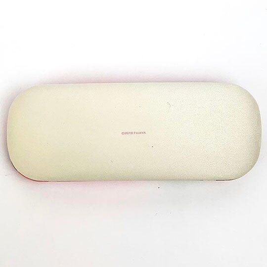 〔小禮堂〕不二家PEKO 尼龍硬殼眼鏡盒《粉.草莓》附眼鏡布.收納盒