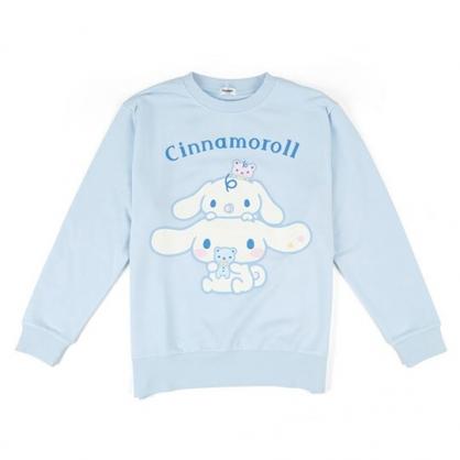 〔小禮堂〕大耳狗 休閒棉質圓領長袖上衣《藍.抱玩偶》衛衣.大學T.T-shirt