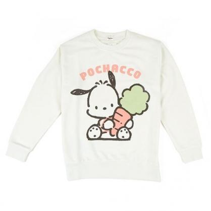 〔小禮堂〕帕恰狗 休閒棉質圓領長袖上衣《米.抱蘿蔔》衛衣.大學T.T-shirt
