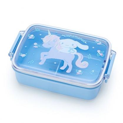 〔小禮堂〕大耳狗 日製方形雙扣便當盒《淡藍》450ml.保鮮盒.餐盒.彩虹獨角獸系列