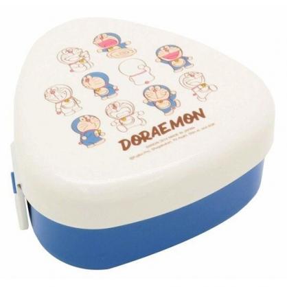〔小禮堂〕哆啦A夢 日製三角形飯糰保鮮盒《米藍.多動作》飯糰模具.便當盒.餐盒