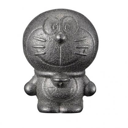 〔小禮堂〕哆啦A夢 日製南部鐵器鐵玉《銀.站姿》補鐵