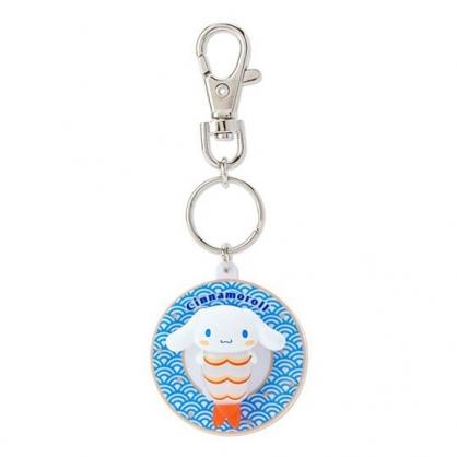 〔小禮堂〕大耳狗 立體壽司盤造型塑膠鑰匙圈《藍》掛飾.吊飾.鎖圈