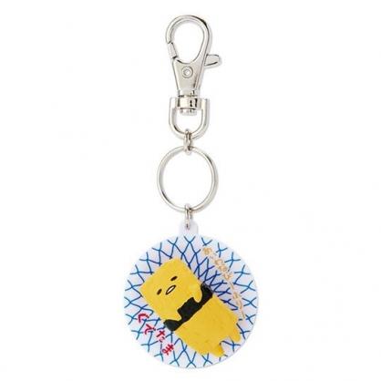 〔小禮堂〕蛋黃哥 立體壽司盤造型塑膠鑰匙圈《黃》掛飾.吊飾.鎖圈