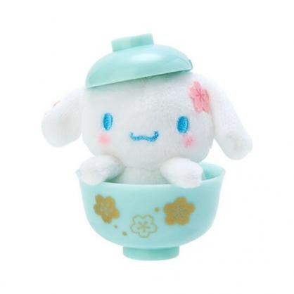 〔小禮堂〕大耳狗 迷你茶碗造型絨毛玩偶娃娃《綠》擺飾.玩具