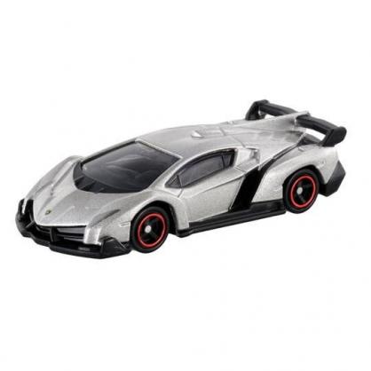 〔小禮堂〕TOMICA小汽車 藍寶堅尼跑車《118.銀》公仔.玩具.模型