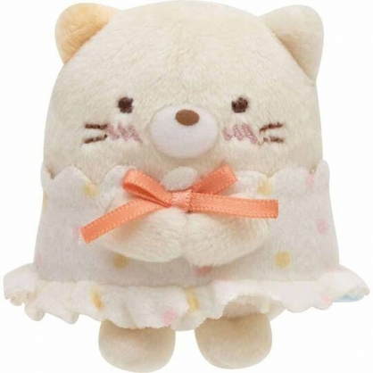 〔小禮堂〕角落生物 貓咪 迷你沙包絨毛玩偶娃娃《米黃.睡衣》擺飾.玩具