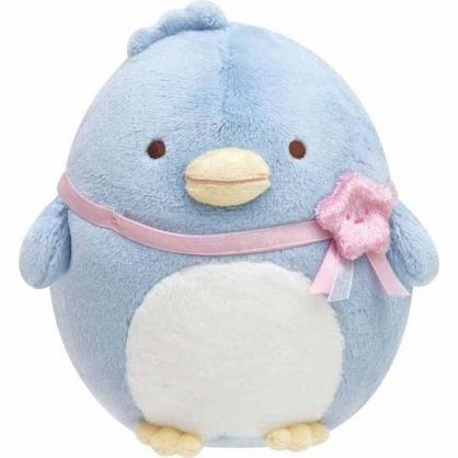 〔小禮堂〕角落生物 企鵝 沙包絨毛玩偶娃娃《S.粉緞帶》擺飾.玩具