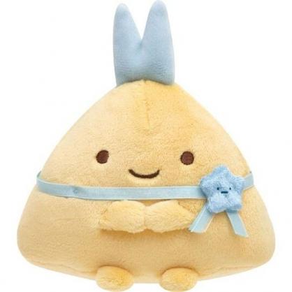 〔小禮堂〕角落生物 炸蝦 沙包絨毛玩偶娃娃《S.藍緞帶》擺飾.玩具