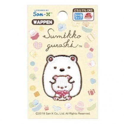 〔小禮堂〕角落生物 北極熊 造型燙布貼《白.玩偶》刺繡燙貼.布飾