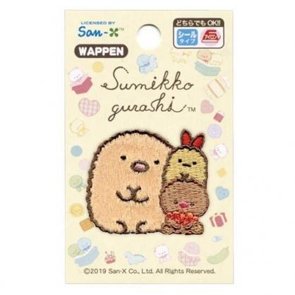 〔小禮堂〕角落生物 豬排 造型燙布貼《棕.玩偶》刺繡燙貼.布飾