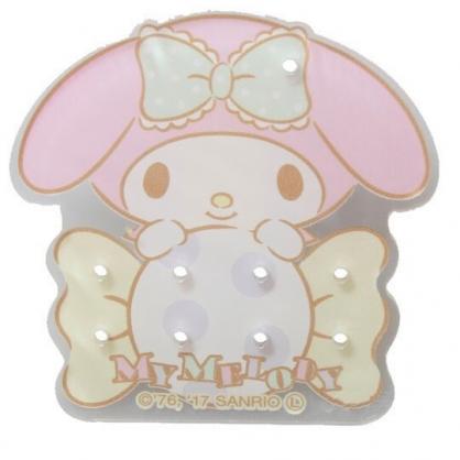 〔小禮堂〕美樂蒂 日製造型透明壓克力耳環收納夾《粉紫.糖果》塑膠夾子.髮飾收納夾