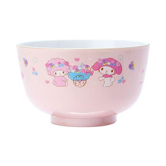 〔小禮堂〕美樂蒂 日製可微波美耐皿碗《粉》微波碗.飯碗.塑膠碗