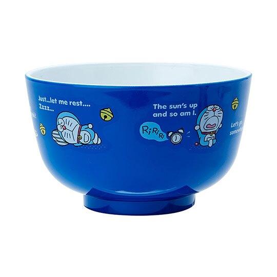 〔小禮堂〕哆啦A夢 日製可微波美耐皿碗《藍》微波碗.飯碗.塑膠碗