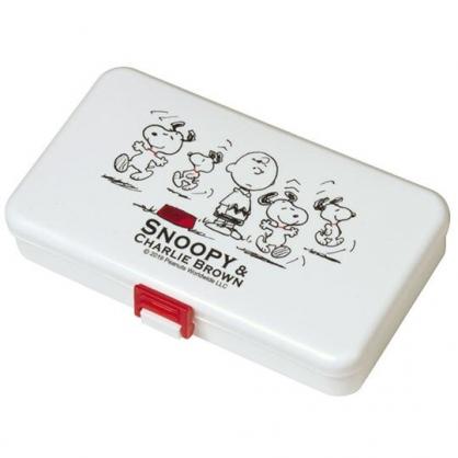 〔小禮堂〕史努比 日製針線用品盒《黑白.豎耳》縫紉用品.針線包