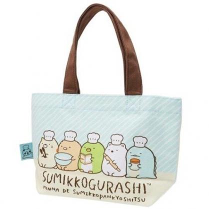 〔小禮堂〕角落生物 帆布手提袋《綠黃.麵包》外出袋.便當袋