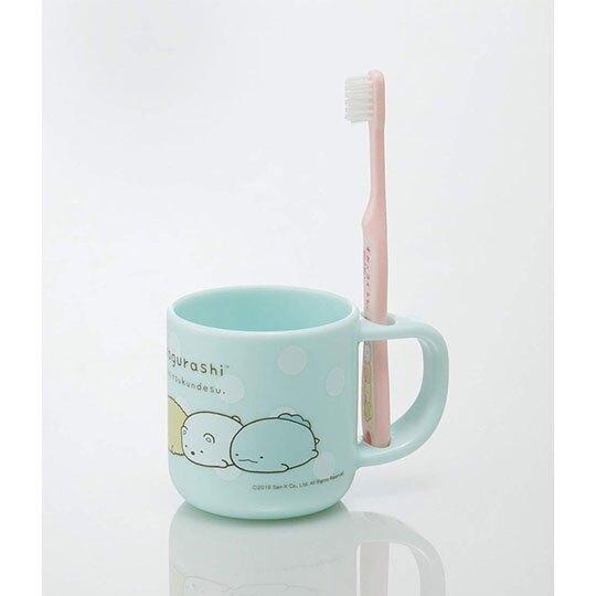〔小禮堂〕角落生物 塑膠牙刷杯組《綠粉.排趴》漱口杯.盥洗用品