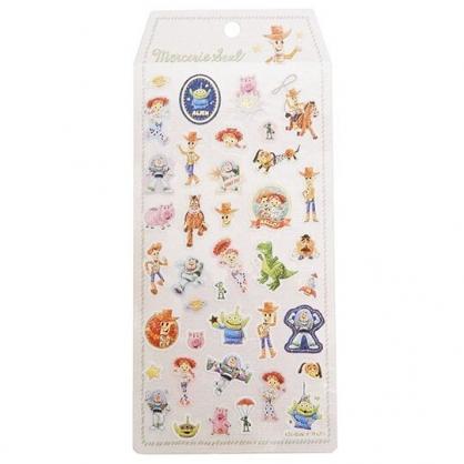 〔小禮堂〕迪士尼 玩具總動員 日製造型燙金貼紙組《棕米.打招呼》裝飾貼紙.黏貼用品