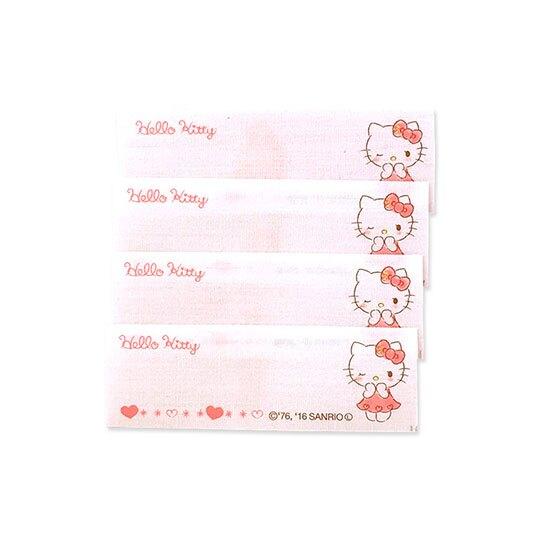 〔小禮堂〕Hello Kitty 日製姓名燙布貼組《4入.粉白.眨眼》刺繡燙貼.布飾