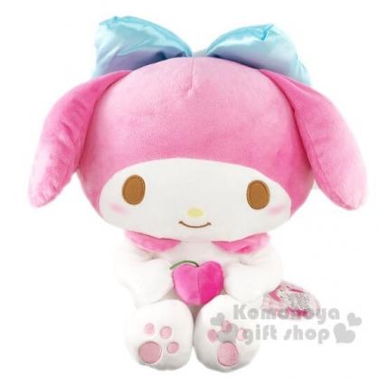 〔小禮堂〕美樂蒂 絨毛玩偶娃娃《L.粉.抱櫻桃》擺飾.玩具