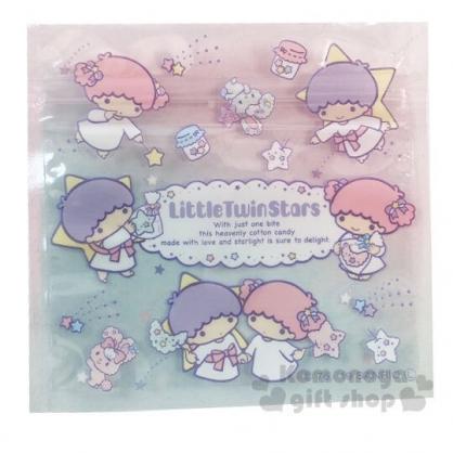 〔小禮堂〕雙子星 方形透明夾鏈袋組《S.6入.藍》分類袋.糖果袋.銅板小物