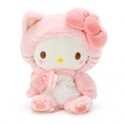 〔小禮堂〕Hello Kitty 沙包絨毛玩偶娃娃《S.粉》沙包玩具.擺飾.變裝貓咪系列