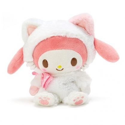 〔小禮堂〕美樂蒂 沙包絨毛玩偶娃娃《S.白》沙包玩具.擺飾.變裝貓咪系列