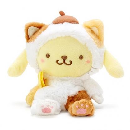 〔小禮堂〕布丁狗 沙包絨毛玩偶娃娃《S.黃》沙包玩具.擺飾.變裝貓咪系列