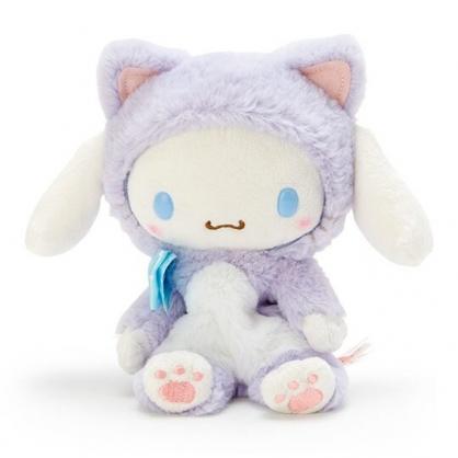〔小禮堂〕大耳狗 沙包絨毛玩偶娃娃《S.紫》沙包玩具.擺飾.變裝貓咪系列