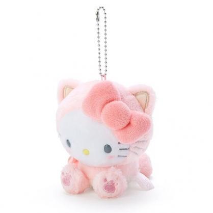 〔小禮堂〕Hello Kitty 絨毛玩偶娃娃吊飾《粉》鑰匙圈.掛飾.變裝貓咪系列