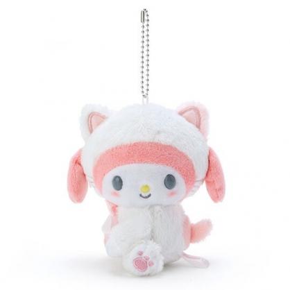 〔小禮堂〕美樂蒂 絨毛玩偶娃娃吊飾《白》鑰匙圈.掛飾.變裝貓咪系列